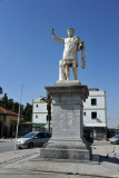 Statue of the Emperor Constantine across from the railway station