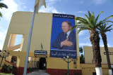 The President of Algeria prominently displayed at the Public Library, Tlemcen
