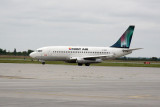 The scheduled First Air flight to Iqaluit (C-FACP)