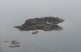 Small islands off Iqaluit covered with birds