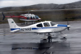 Cirrus SR22 with a temporary registration N214RS on the ground at YFB during its delivery flight to Saudi Arabia
