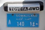 Blue NGO license plate, Somaliland