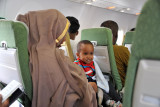 A young passenger and his mother headed for Hargeisa