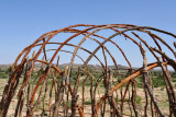 Detail of the frame of a traditional Somali hut