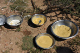 Simple staple food of the Somali nomads