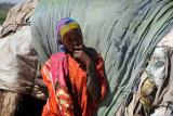 Somali woman, shy but friendly