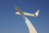 Airplane monument outside the entrance to Berbera International Airport