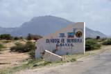 D/Hoose ee Berbera G. Saaxil - road sign leaving Berbera