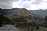 From the coast, the road gradually reaches an elevation of 2500 feet before the big ascent begins after around 55 km