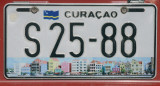 Current Curaçao license plate with the Handselskade