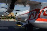 Air Tahiti ATR72 arrival, Bora Bora