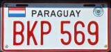 Paraguay License Plate