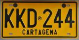 Cartagena License Plate