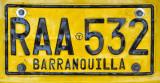 Barranquilla License Plate