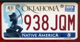 Oklahoma License Plate