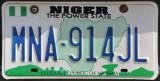 Nigerian License Plate, Niger State