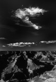 Nice Cloud Set Vert South Rim of Grand Canyon BW K June 1988 slide relief small.jpg