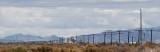 Locomotive approaching Burmester, Utah