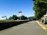 Looking northeast on the Green River Trail in Tukwila (Interstate 5 at left)