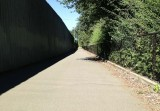 Green River Trail next to Interstate 5 wall