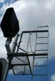 Signal tower as bird perch