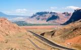 Highway, uranium tailings, Colorado River
