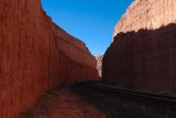 Rail corridor, reverse view