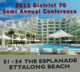 2013 District 70 Semi Annual Conference