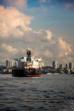 Unique Fidelity container ship in Sydney Harbour