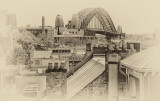 Sydney Harbour Bridge from Rocks using Nik software