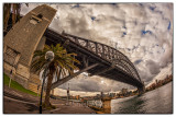 Sydney Harbour Bridge with fisheye