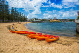 Manly with kayaks and ferry