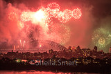 Sydney Harbour Bridge with fireworks