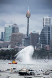 Fireboat on Sydney Harbour prior to fireworks