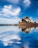 Sydney Opera House with clouds