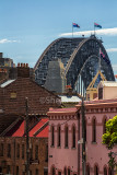 Sydney Harbour Bridge with the Rocks in foreground