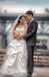 Japanese bride and groom on Sydney Opera House steps