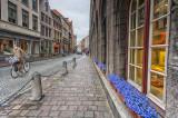 Cobbled street in Brugge, Belgium