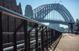 Sydney Harbour Bridge and railing