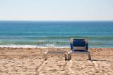 Empty chair on Manly Beach, Sydney