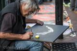 Aboriginal painter, Ray Nama Walker