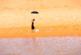 Girl with the black umbrella