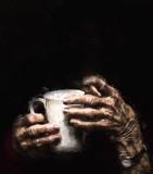 Hands on mug