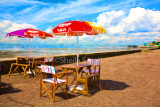 Chairs and umbrellas at Southend on Sea