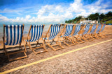 Empty deckchairs at Southend on Sea