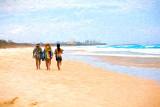 Three at Fingal Beach