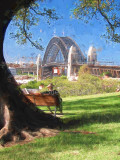 Sydney Harbour Bridge from Observatory Hill, Sydney