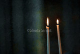 Two candles in Rheims Cathedral