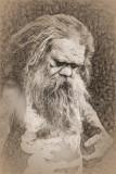 Sketch of aboriginal busker
