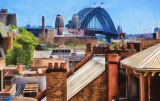 Sydney Harbour Bridge from Rocks - abstract version